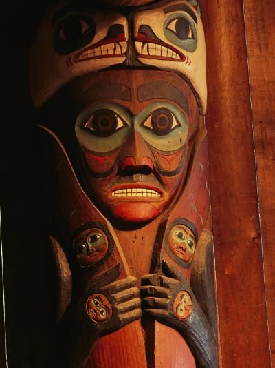 Detail of House Post in the Totem Bight Clan House-Rich Reid-Photographic Print