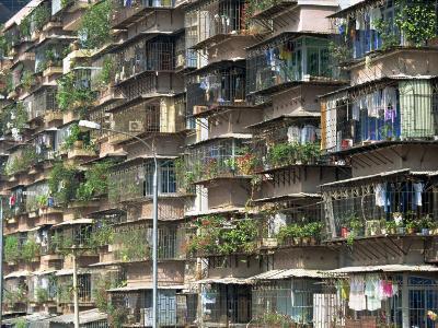 Detail of Housing, Guangzhou, China-Tim Hall-Photographic Print