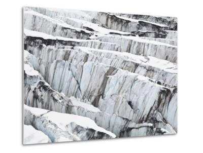 Detail of Ice Crevasses at Columbia Glacier, Alaska.-Ethan Welty-Metal Print