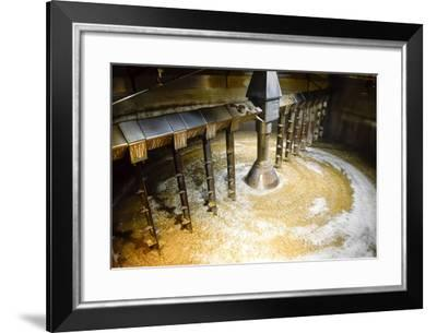 Detail of inside Mash Tun While Making Whisky-MartinM303-Framed Photographic Print
