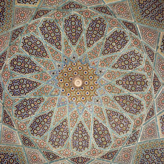 Detail of Interior of the Tomb of the Persian Poet Hafiz, Shiraz, Iran, Middle East-Robert Harding-Photographic Print