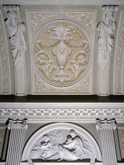 Detail of Interior Stucco Decoration of Villa Durazzo Gropallo or Villa Zerbino--Giclee Print