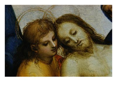 Detail of Jesus and Saint Nicodemus from Pieta-Raphael-Giclee Print
