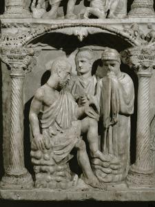 Detail of Job from the Sarcophagus of Junius Bassus