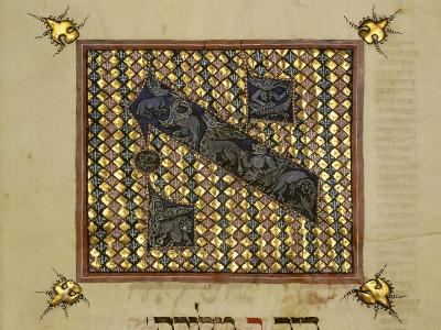 Detail of M549-3-66, Fol. 65V, from 'The Erna Michael Haggadah', Middle Rhine, Germany, C.1400--Giclee Print