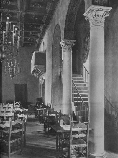 Detail of main dining room, University Club Building, Los Angeles, California, 1923--Photographic Print
