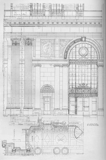 Detail of main entrance, Los Angeles Biltmore Hotel, Los Angeles, California, 1923--Giclee Print