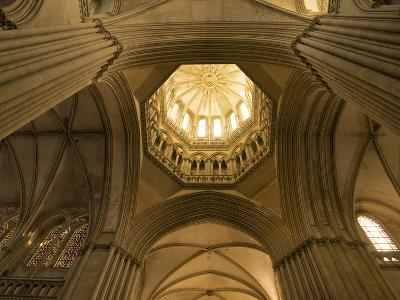 Detail of Octagonal Lantern Tower, Notre Dame Cathedral, Coutances, Cotentin, Normandy, France-Guy Thouvenin-Photographic Print