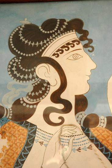 """Detail of one of the """"Blue Ladies""""-Werner Forman-Giclee Print"""