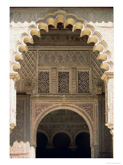 Detail of One of the Polylobed Arches from the Patio De Las Doncellas--Giclee Print