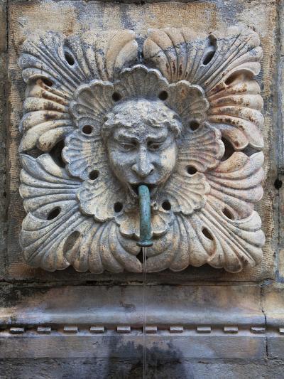 Detail of Onofro's Fountain, Stradun, Dalmatia, Croatia, Europe-Martin Child-Photographic Print