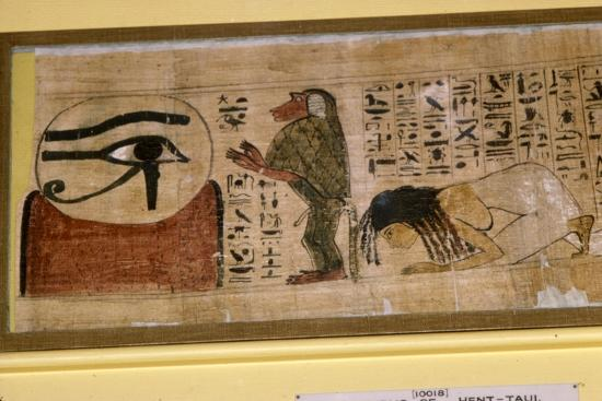 Detail of Papyrus of Hent-Taul, Egypt, 21st Dynasty, c1069 BC - 945 BC-Unknown-Giclee Print