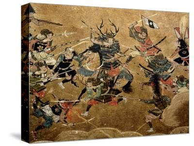 Detail of Part of a Folding Screen Which Depicts the Siege of Osaka Castle (1615)