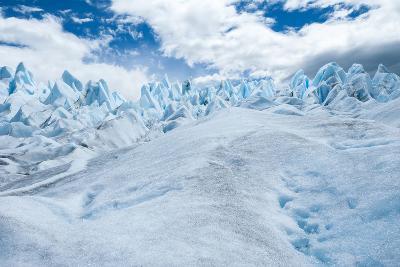 Detail of Perito Moreno Glacier with Clouds, Patagonia, Argentina-James White-Photographic Print