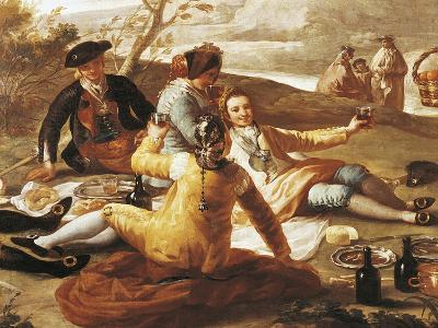 Detail of Picnic on Banks of Manzanares--Giclee Print