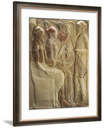 Detail of Pinax from Holy Shrine of Mannella in Locri, Calabria, Italy--Framed Giclee Print