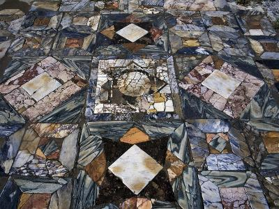 Detail of Polychrome Marble Floor of Room in House of the Waterfall--Giclee Print