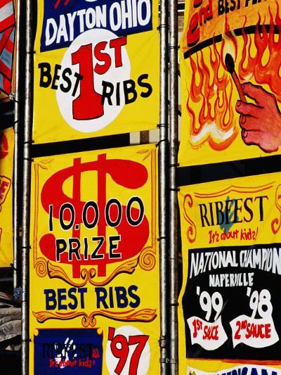 Detail of Rib Stall Signs at Jazz & Rib Festival, Columbus, United States of America-Richard I'Anson-Photographic Print