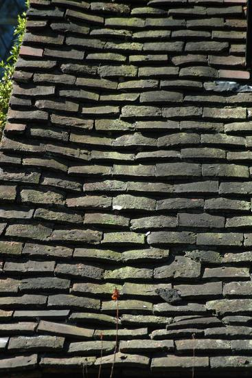 Detail of Rough Grey Vernacular Roof Tiles-Natalie Tepper-Photo