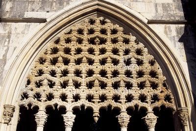 Detail of Royal Cloister in Batalha Monastery, Batalha--Photographic Print
