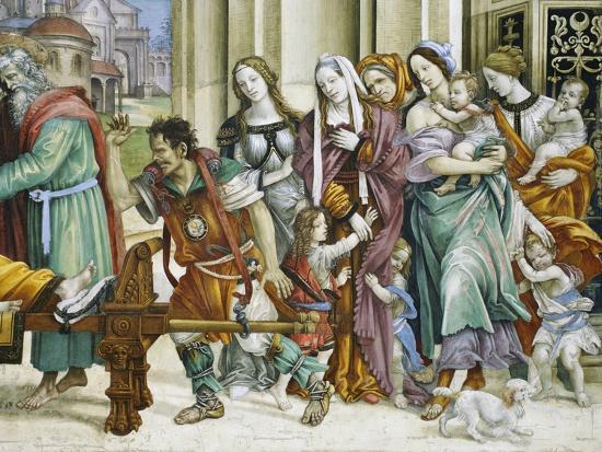 Detail of Saint John the Evangelist Reuscitating Druisana-Filippino Lippi-Giclee Print