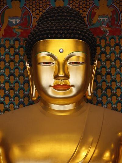 Detail of Sakyamuni Buddha Statue in Main Hall of Jogyesa Temple-Pascal Deloche-Photographic Print