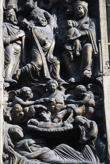Detail of Sculptural Decoration, Jambs of Main Entrance--Giclee Print