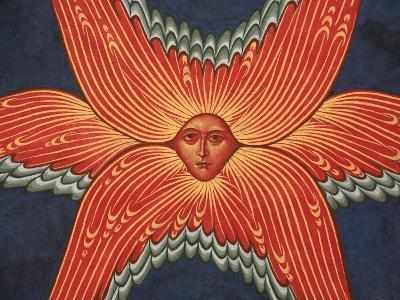 Detail of Seraphim from Apocalypse Fresco at Monastery of Saint-Antoine-le-Grand-Pascal Deloche-Photographic Print