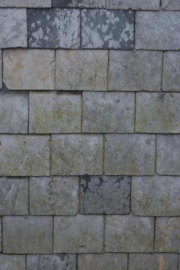 Detail of Shingles on the Side of a House, Port Isaac, Cornwall, UK-Natalie Tepper-Photo