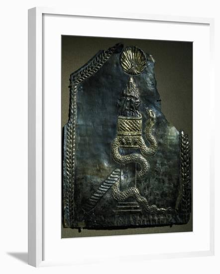 Detail of Silver-Coated Plate of Reliquary with Relief of Saint Simon, 6th Century--Framed Giclee Print
