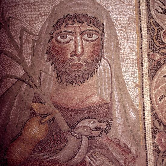 Detail of Simon on Mosaic Pavement, 5th century-Unknown-Giclee Print