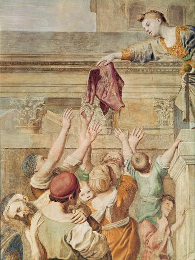 Detail of St. Cecilia Distributing Alms, C.1612-15-Domenichino-Giclee Print