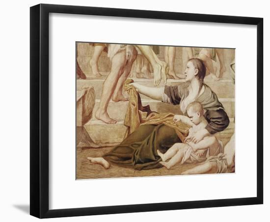 Detail of St. Cecilia Distributing Alms C.1612-15-Domenichino-Framed Giclee Print