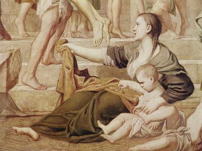 Detail of St. Cecilia Distributing Alms C.1612-15-Domenichino-Giclee Print