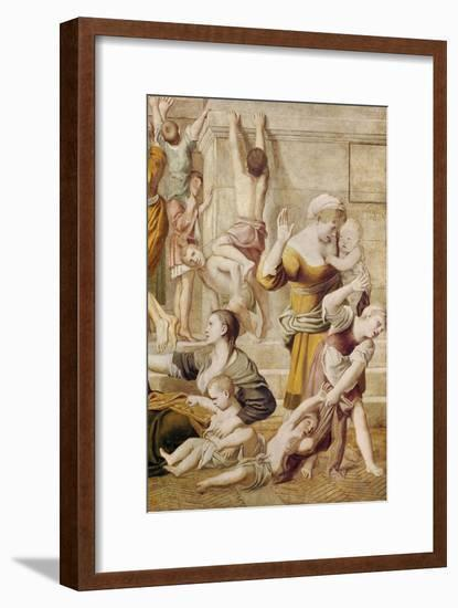 Detail of St. Cecilia Distributing Alms, C.1612-15-Domenichino-Framed Giclee Print