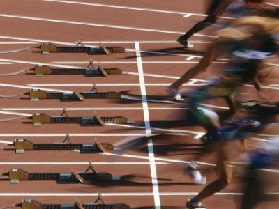 Detail of Start of Womens 100M Race-Steven Sutton-Photographic Print