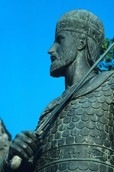 Detail of Statue of Constantine XI Palaiologos-Chris Hellier-Photographic Print