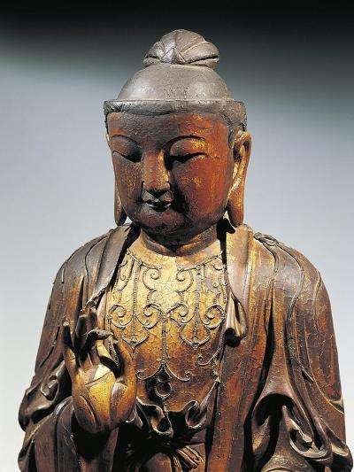 Detail of Statuette Representing Buddha Doing the Reasoning Mudra--Giclee Print