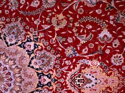 Detail of Tabrizi Carpet, Iran-Glenn Beanland-Photographic Print