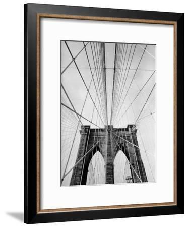 Detail of the Brooklyn Bridge-Alfred Eisenstaedt-Framed Premium Photographic Print