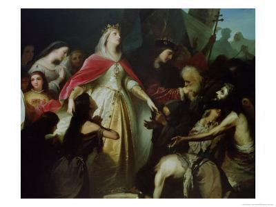 Detail of the Catholic Monarchs Receiving the Christian Captives after the Conquest of Malaga-Eduardo Cano de la Peña-Giclee Print