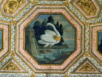 Detail of the Ceiling Decoration in the Salon of the Swans, 15th Century--Giclee Print