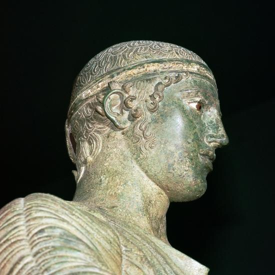 Detail of the Charioteer of Delphi, 5th century BC. Artist: Unknown-Unknown-Giclee Print
