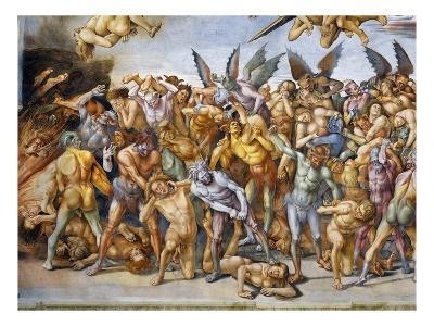 Detail of The Damned in Hell-Luca Signorelli-Giclee Print