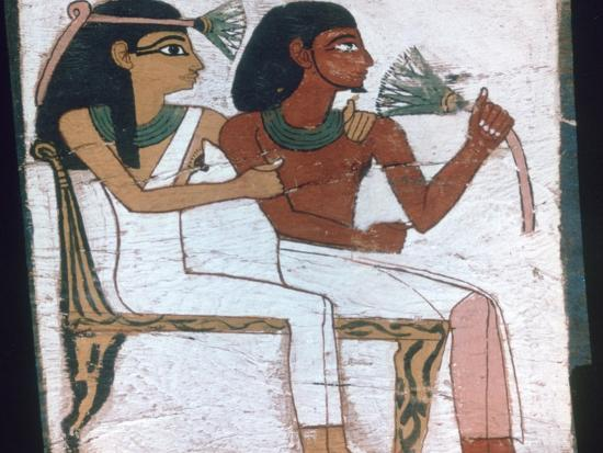 Detail of the decoration of a sarcophagus of The Lady of Madja, 18th Dynasty. Artist: Unknown-Unknown-Giclee Print
