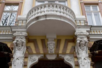 Detail of the Decoration on the Facade of Jugendstil Building, Odessa, Ukraine--Photographic Print