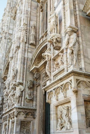 Detail of the Duomo (Cathedral), Milan, Lombardy, Italy, Europe-Yadid Levy-Photographic Print