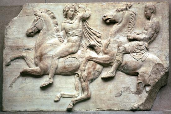 Detail of the Elgin Marbles, 5th century BC-Unknown-Giclee Print