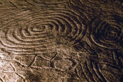 Detail of the Engravings in the Central Chamber of Newgrange Stone Age Passage Tomb--Photographic Print