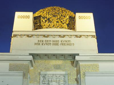 Detail of the Exterior of the Dome of the Art Nouveau Secession Building, Vienna, Austria-Richard Nebesky-Photographic Print